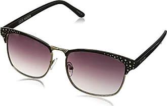 8d23af2ce7f Steve Madden Womens S5474 Rectangular Sunglasses Black Gold 63 mm