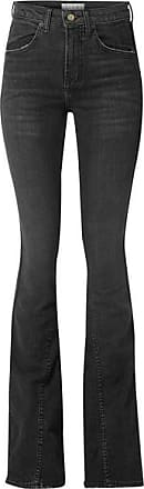 TRE by Natalie Ratabesi Cher Distressed High-rise Flared Jeans - Black