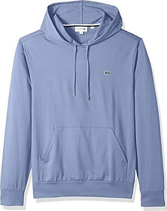 Lacoste Men/'s Steamer Blue Cotton Jersey Long Sleeve Pullover Hooded T-Shirt