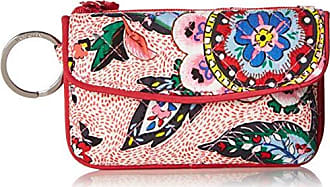 Vera Bradley Iconic Jen Zip ID, Signature Cotton, stitched Flowers