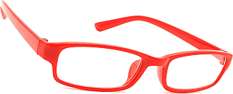 morefaz (TM) Unisex (Men´s Women´s) Retro Vintage Glasses Clear Lens Shades - Red - Regular