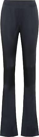 Galvan High-rise satin-crêpe pants