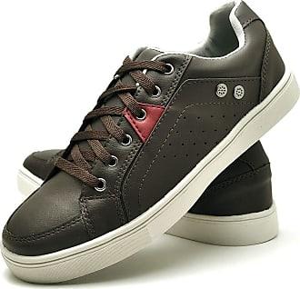 Juilli Sapatênis Sapato Casual JUILLI Masculino Com Cadarço 05DB Tamanho:43;cor:Marrom;gênero:Masculino