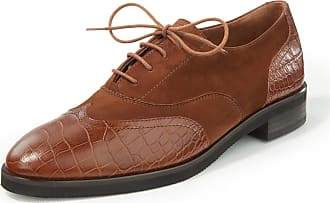 Paul Green Lace-up shoes embossed crocodile motif Paul Green brown