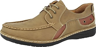 Cushion-Walk Mens Faux Leather Classic Boat Deck Casual Loafers Shoes Size 7-11 (UK 12, Dk Beige)