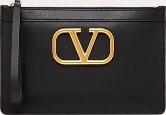 Valentino Garavani Valentino Garavani Pouch Vlogo In Vitello Donna Nero 100% Pelle Di Vitello - Bos Taurus OneSize
