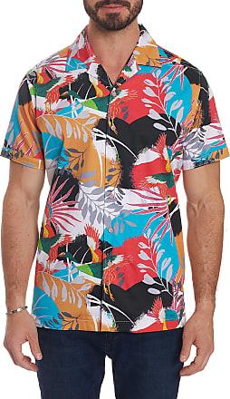 Robert Graham Mens Sakura Short Sleeve Shirt Size: 2XL by Robert Graham