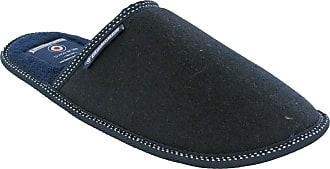 Lambretta Moccasins Mens Herringbone Slippers Boxed Gift (UK 10-11.5 (L/XL), Navy Mule)