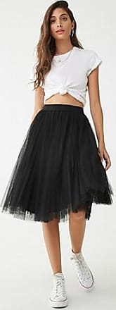 Forever 21 Forever 21 Pleated Tulle Skirt Black