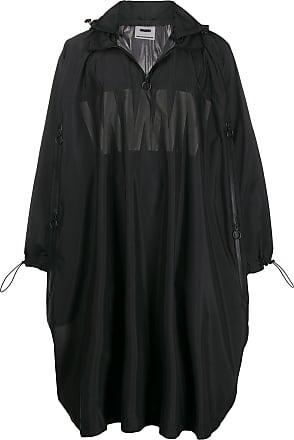 WWWM - What We Wear Matters Casaco impermeável oversized com capuz - Preto