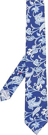 Dell'Oglio Gravata de seda com padronagem paisley - Azul