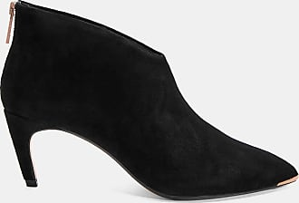 Ted Baker Slanted Heel Suede Ankle Boots in Black GEMIEE, Womens Accessories