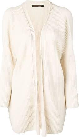 Incentive! Cashmere ribbed knit cardigan - Neutro