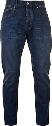 Firetrap Mens Rom Jeans Casual Cotton Trousers Pants Slightly Distressed Look Dark Wash 36W S