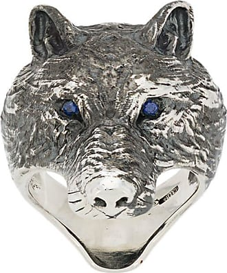 Nove25 Anel Wolf - Prateado