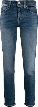 7 For All Mankind low rise straight-leg jeans - Azul