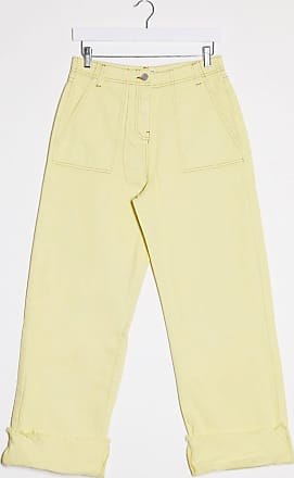 Whistles high waisted turn up jeans in yellow