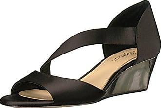 Imagine Vince Camuto Womens JEFRE Wedge Sandal Black 5 Medium US