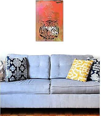 The Oliver Gal Artist Co. The Oliver Gal Artist Co. Oliver Gal Maggie P Chang-Tiger Orange Wild Animals Wall Art Print Premium Canvas 20 x 30
