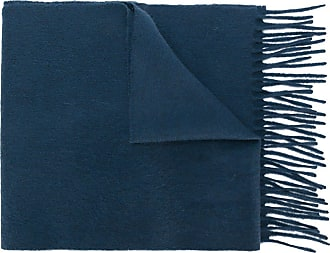 Pringle Of Scotland fringed hem scarf - Azul