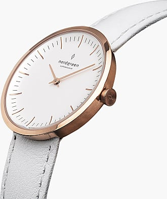 Nordgreen Infinity - Rose Gold | White Leather - 32mm / Rose Gold