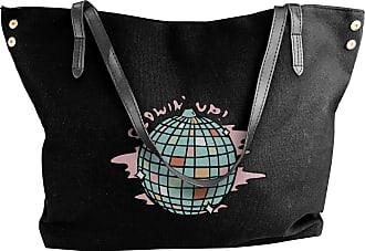 Juju An Inspirational Disco Ball Womens Classic Shoulder Portable Big Tote Handbag Work Canvas Bags