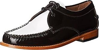 G.H. Bass & Co. Womens Winnie Tuxedo Loafer, Black/White, 7 M US