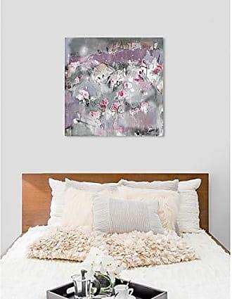 The Oliver Gal Artist Co. The Oliver Gal Artist Co. Abstract Wall Art Canvas Prints Michaela Nessim - Subtle Radiance Light Home Décor, 43 x 43, Gray, Pink