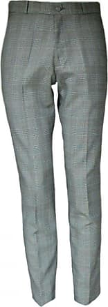 Relco Mens Prince of Wales Sta-Press Check Trousers Black/White Size 38