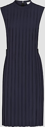 Reiss Linnea - Pleated Sleeveless Mini Dress in Navy, Womens, Size 10