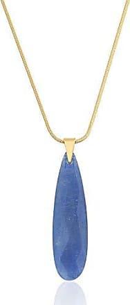 Toque De Joia Colar semijoia pêndulo gota briolet grande quartzo azul