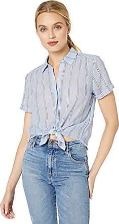 Lucky Women/'s Sz Medium Paisley Stripe Cap Sleeve V-Button Front Top $44.50 NWT