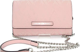 A|X Armani Exchange Womens wallet faux leather pink with inner pockets, removable shoulder strap, 948417 0P191. BIOSABORSE
