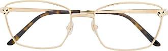 Cartier Armação de óculos quadrada com logo - Dourado
