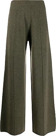 Pringle Of Scotland Calça pantalona de tricô - Verde