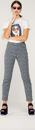 être cécile Calça Jeans Star de Algodão Estampada - Mulher - Azul - P BR