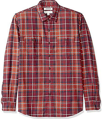 Brand Brand Goodthreads Men/'s Standard-Fit Plaid Twill Shirt