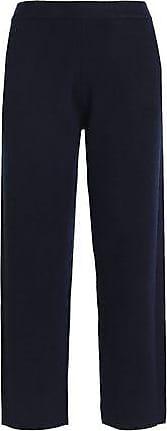 Joseph Joseph Woman Wool-blend Straight-leg Pants Navy Size XL
