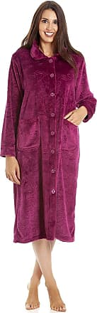 Camille Womens Various Button Housecoats 18/20 Burg