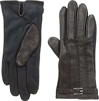 Adrienne Vittadini Womens Perforated Leather Touchscreen Gloves, Conker, Small