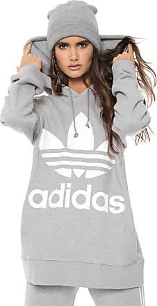 e537dee329c adidas Originals Moletom Fechado adidas Originals Trefoil Hoodie Cinza