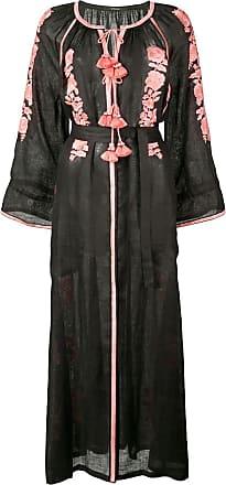 Vita Kin Vestido midi bordado - Preto