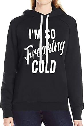 Dresswel Women Im So Freaking Cold Hoodie Sweatshirt Long Sleeve Tops Pullover Jumper Blouse Shirt (Black, L)