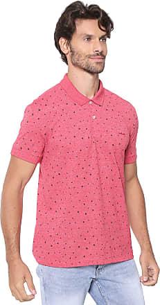 ac1f03049 Colcci Camisa Polo Colcci Reta Estampada Vermelha/Preta