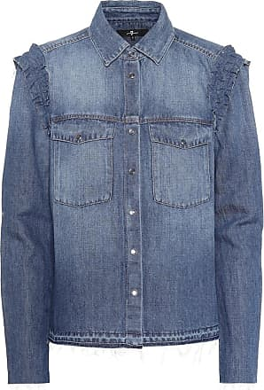 7 For All Mankind Ruffled denim shirt