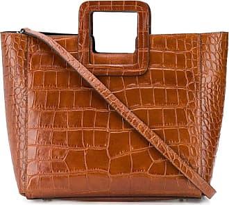 Staud Shirley crocodile-effect tote bag - Marrom