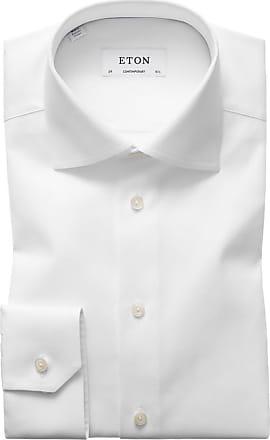 Eton Oberhemd in Pinpoint-Struktur, Contemporary Fit von Eton in Weiss für Herren
