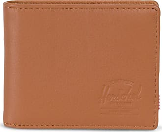 Herschel Co. Mens Hank Wallet, Tan Pebbled Leather RFID, One Size