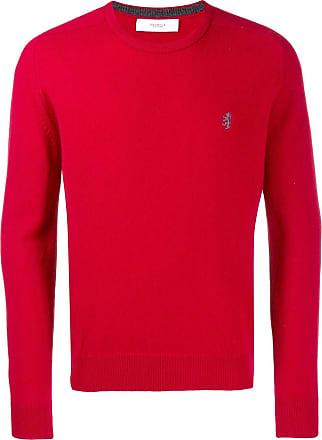 Pringle Of Scotland Suéter com logo bordado - Vermelho