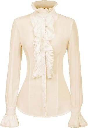 Kate Kasin Womens Solid Color Ruffle Off Shoulder Boho Blouse Top